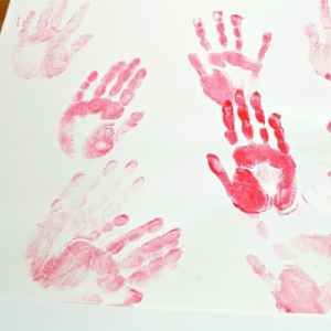 toddler handprint painting activity