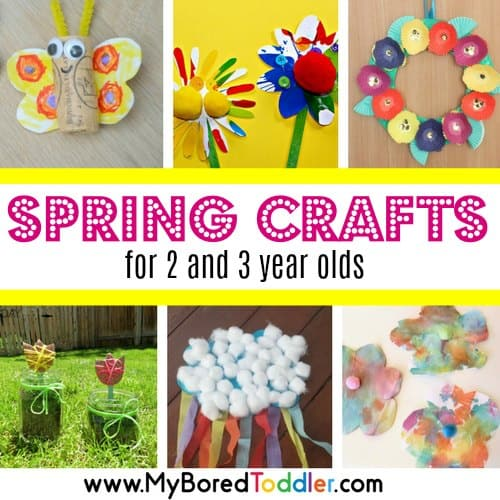 Spring Crafts for 2 and 3 year olds