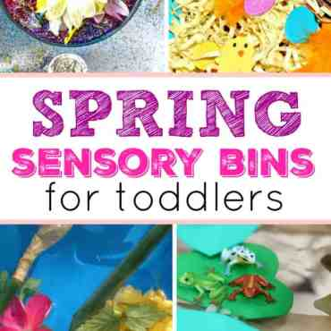 Spring Sensory Bins for Toddlers feature