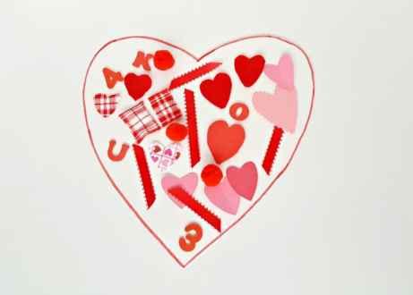 Valentine collage toddler art activity