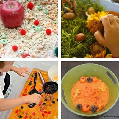 autumn and fall sensory bins sensory trays sensory tubs for toddlers 3