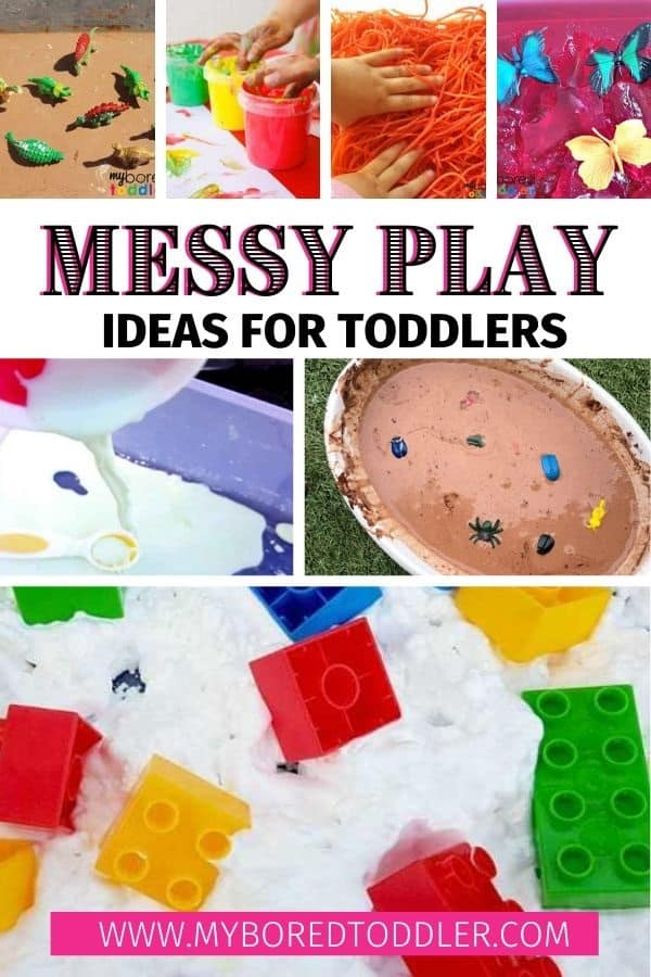 Messy play ideas for toddlers pinterest