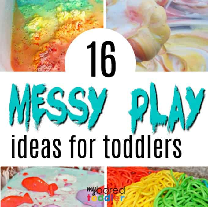 messy play ideas for toddlers square image