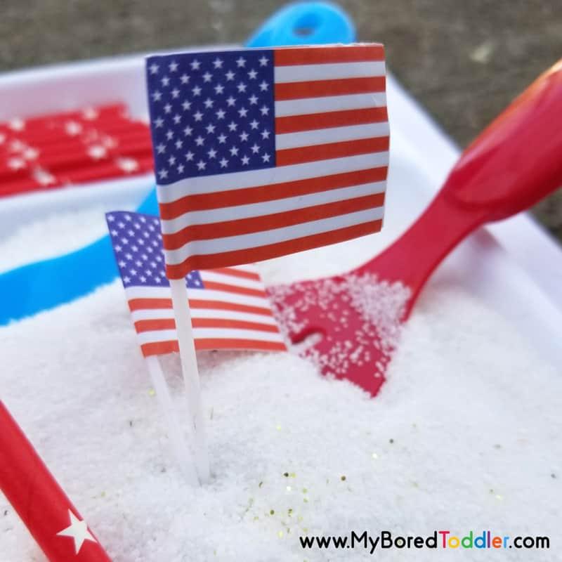 patriotic sensory bin memorial day 4th july image 3
