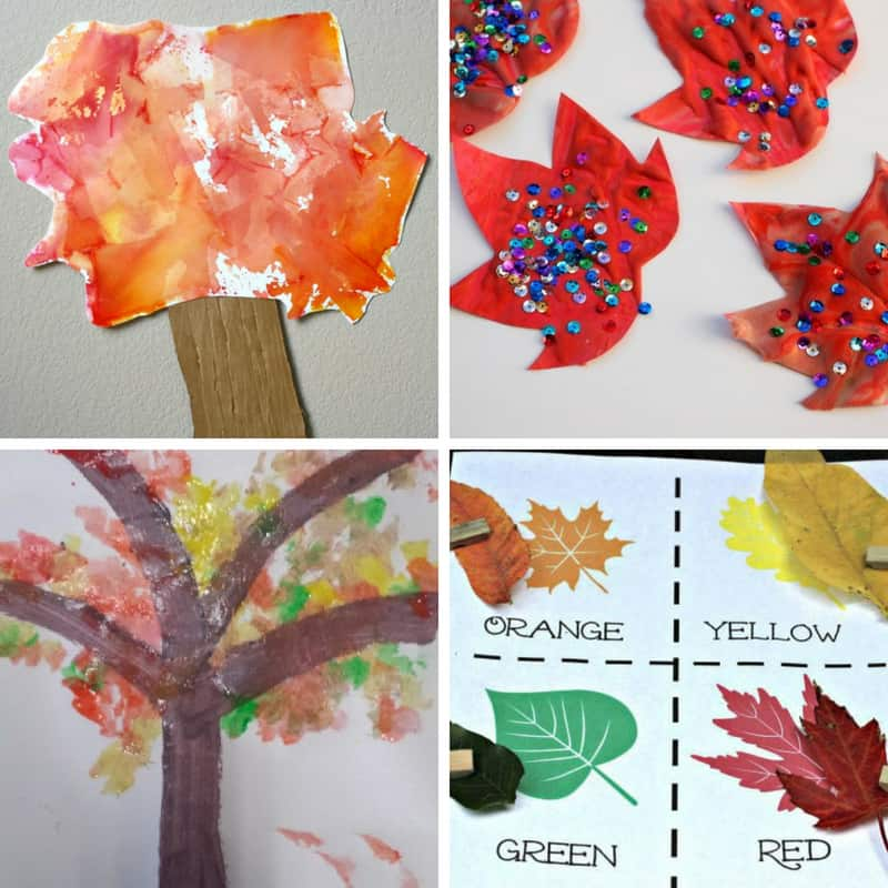 Leaves activities for 2 and 3 year olds toddlers crafts fun