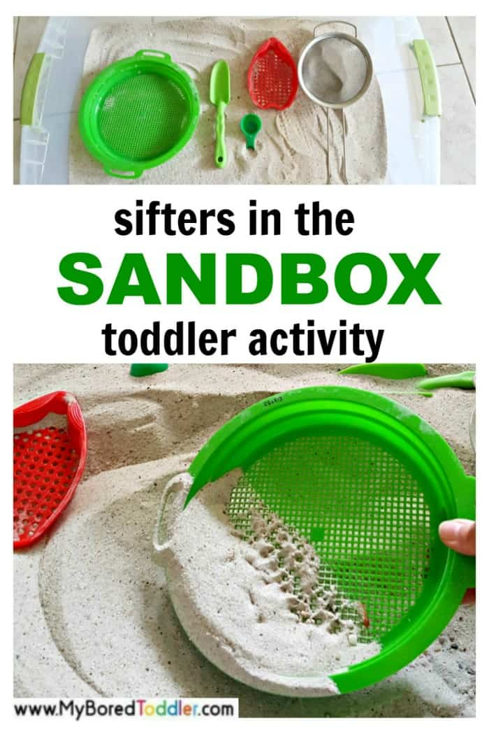 Sifters in the Sandbox Toddler Activity