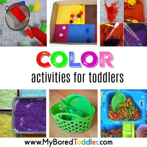 Color Activities For Toddlers – play based color activities