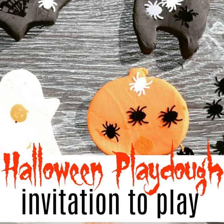 Halloween Playdough Invitation to Play