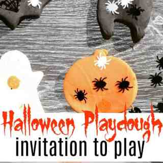 halloween playdough invitation to play feature