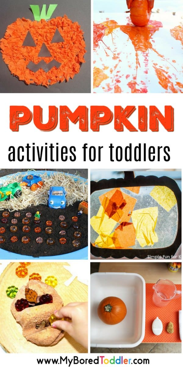 Pumpkin themed activities for toddlers , Fall and Halloween! ,