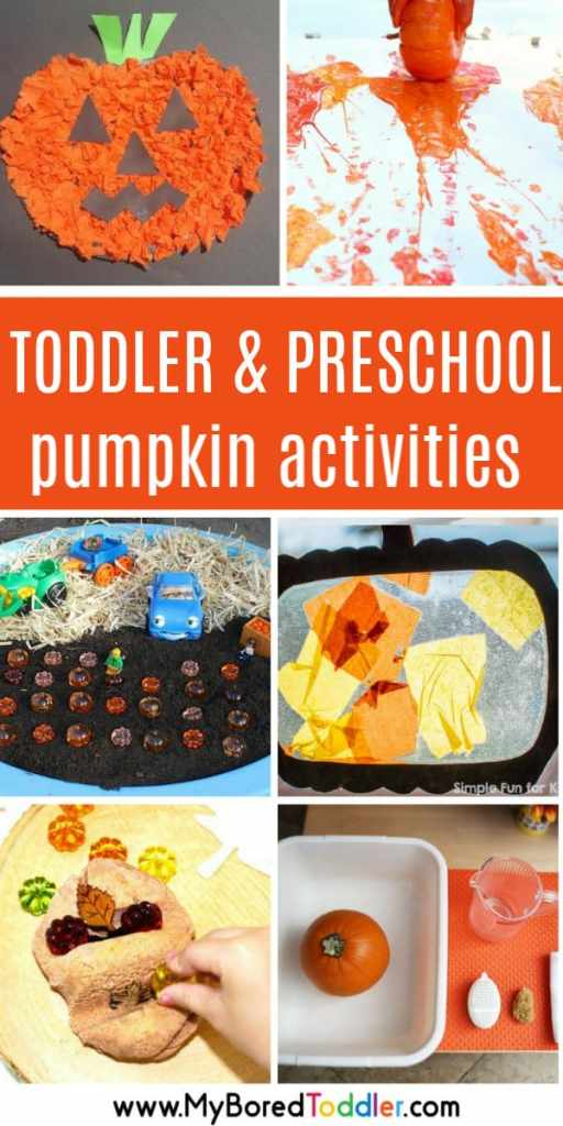 toddler pumpkin activitiies for 1 2 and 3 year olds