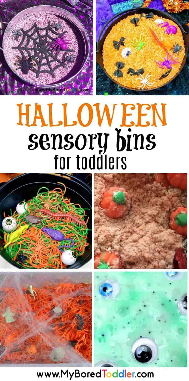 Halloween sensory bins for toddlers pinterest