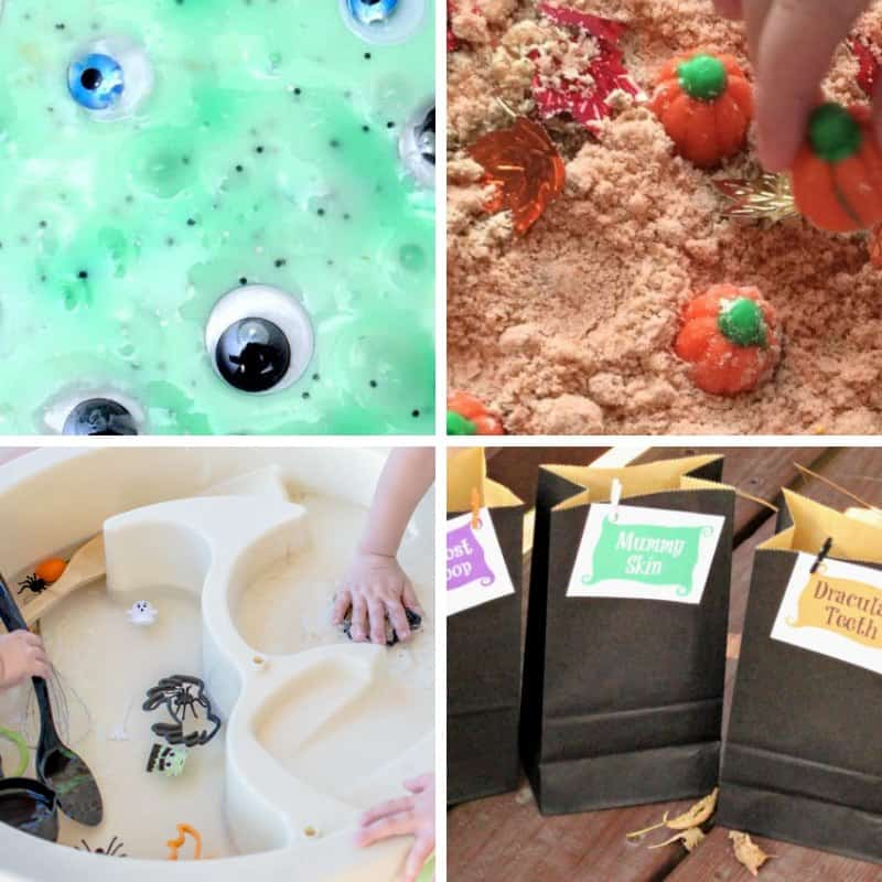 Halloween sensory bins for toddlers round up 2