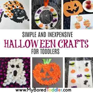 easy halloween crafts for toddlers feature