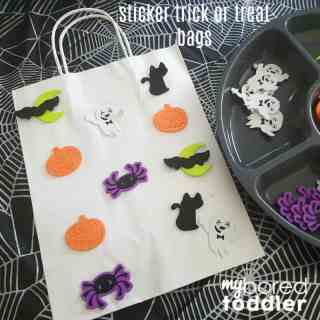 halloween trick or treat foam sticker bag for toddlers instagram feature