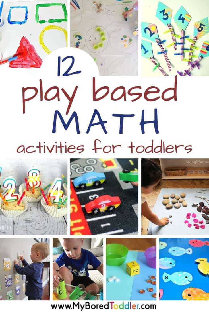 12 Play based math activities for toddlers - My Bored Toddler