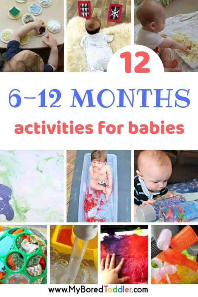 12 activities for babies 6-12 months - My Bored Toddler