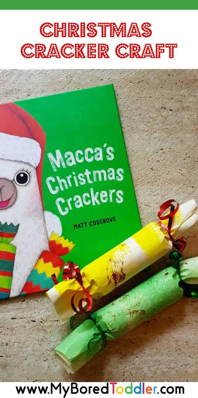easy christmas cracker craft for toddlers pinterest