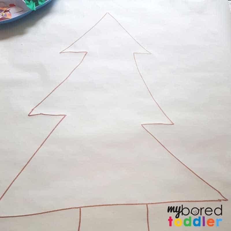 Christmas tree collage drawing your christmas tree