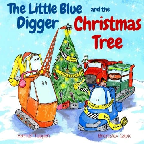 The little blue digger and the christmas tree book