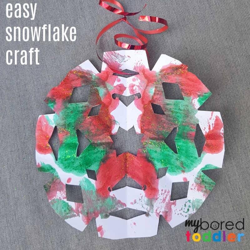 Painted Snowflake Christmas Craft