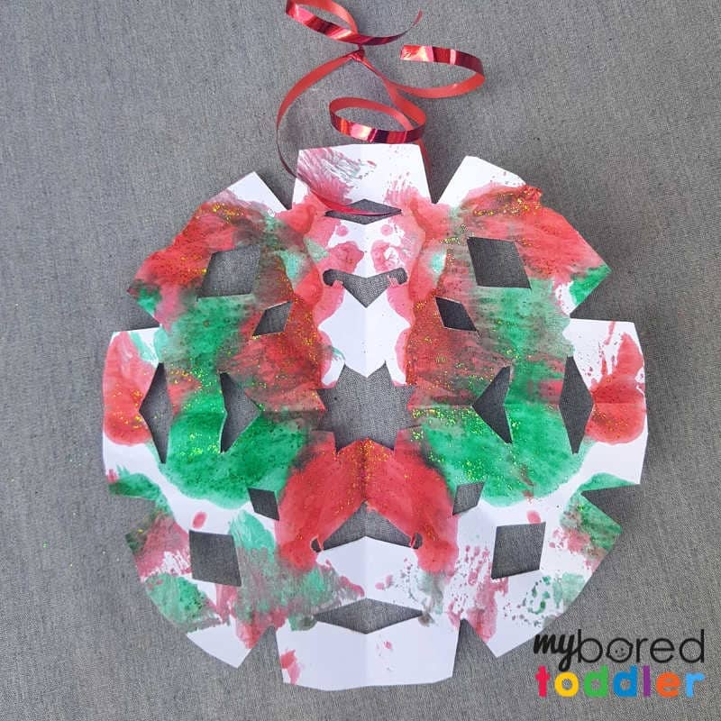 easy christmas painted snowflake craft cut out final logo