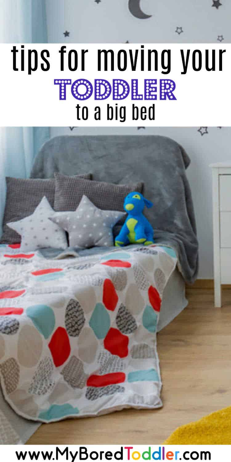 tips for moving to a toddler bed pinterest no text