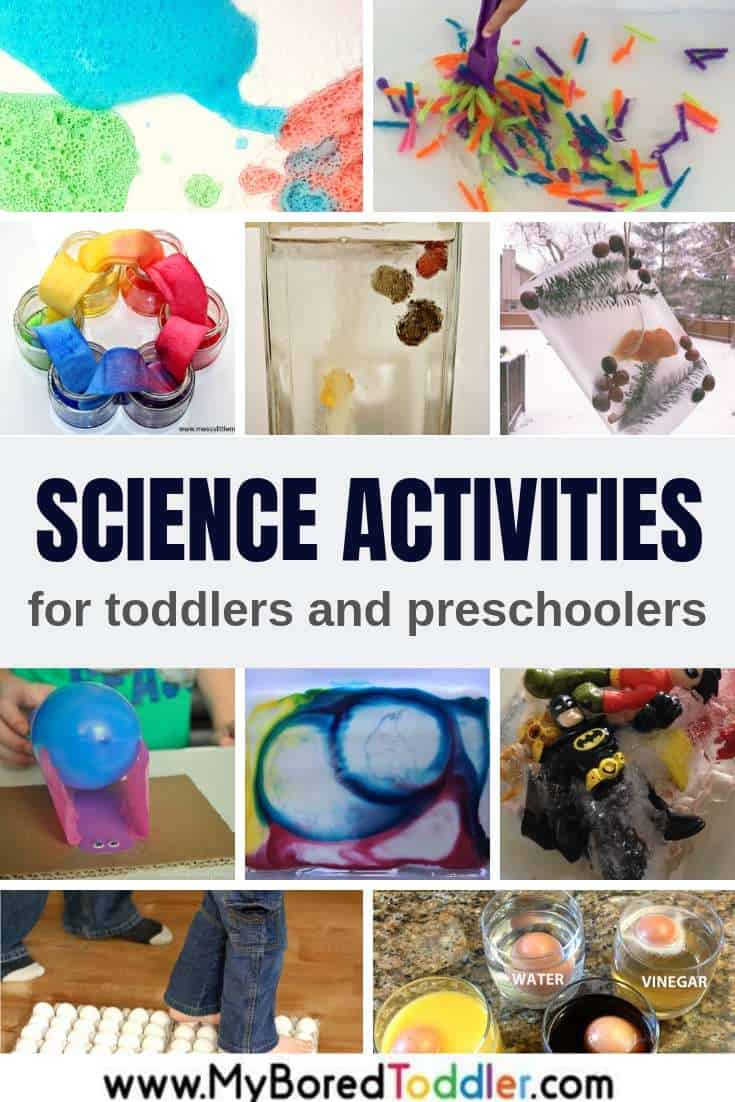 Fun and easy science activities for toddlers and preschoolers - My Bored Toddler