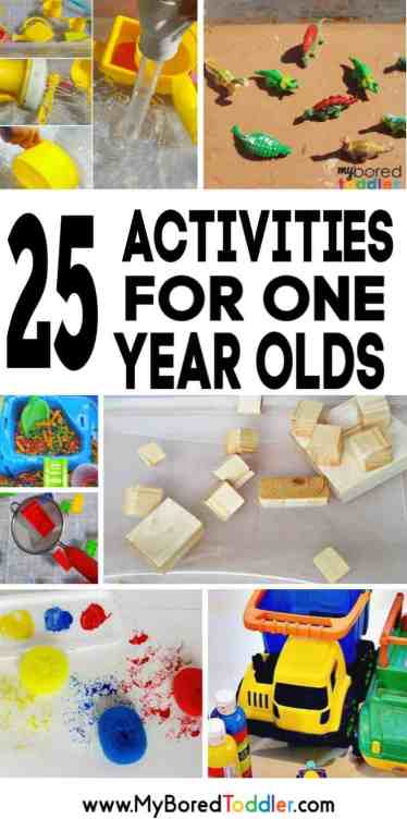 25 one year old activities pinterest