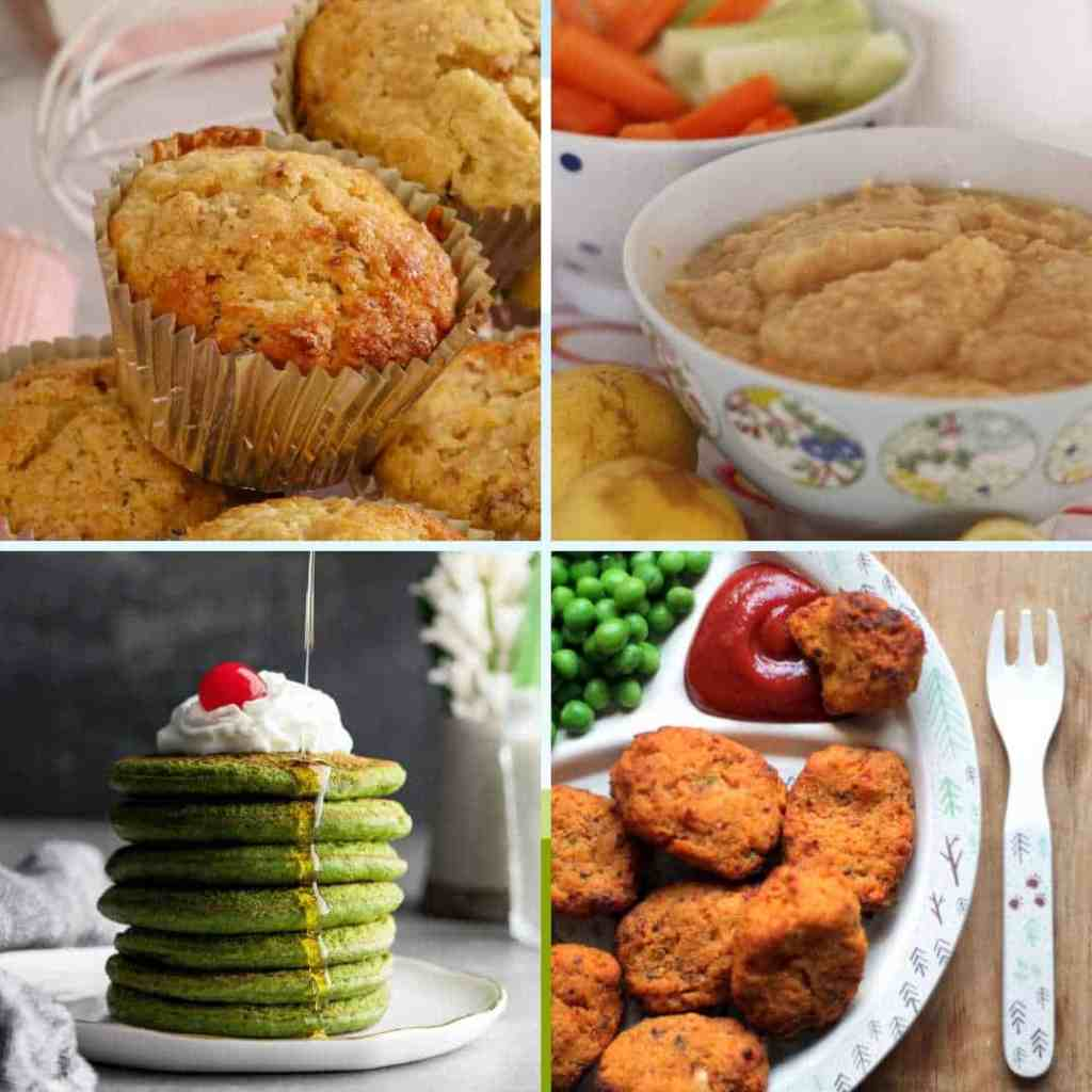 Healthy Finger Foods for Toddlers muffins, hummus, pancakes nuggets