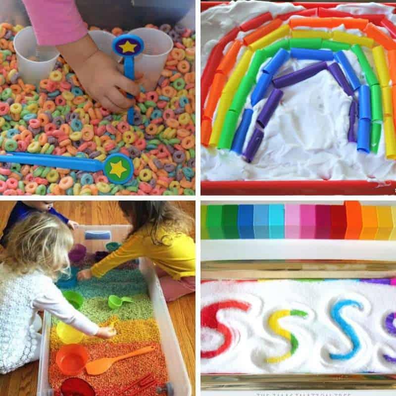 playful rainbow sensory activities