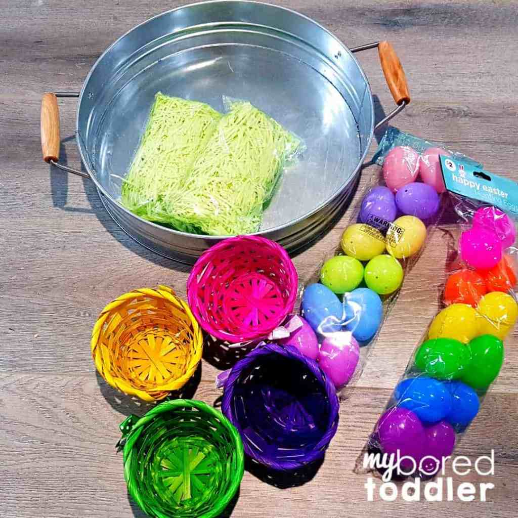 easter egg hunt for colors what you need