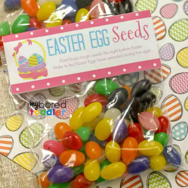 easter egg seeds printable topper free