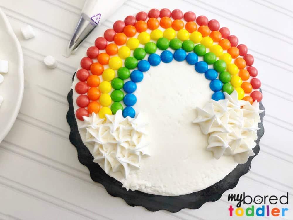 Miraculous Easy Rainbow Birthday Cake Using Skittles And Marshmallows My Funny Birthday Cards Online Aboleapandamsfinfo