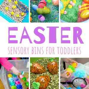 Easter Sensory Bins for Toddlers