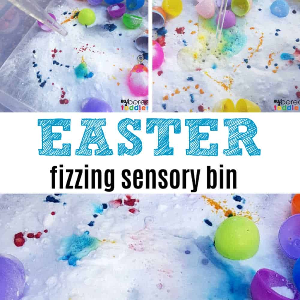 Fizzing Easter Sensory Bin for Toddlers