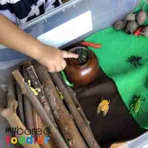 Sensory Wood Pile Small World Play