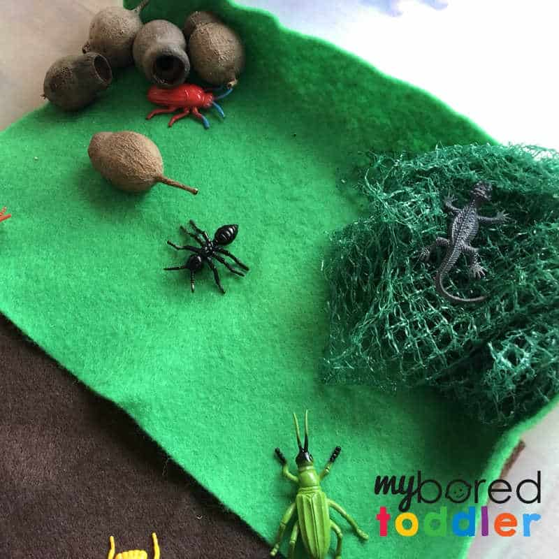 what you need for a sensory wood pile small world play for toddlers (2)