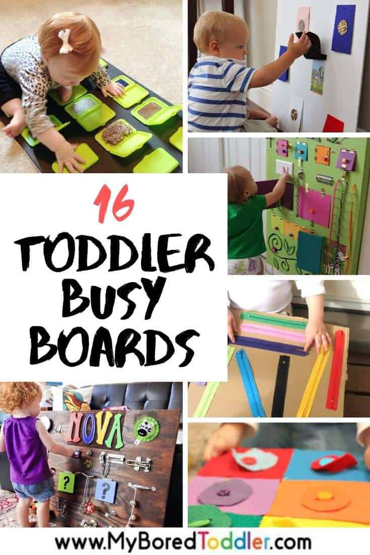 16 toddler busy board ideas