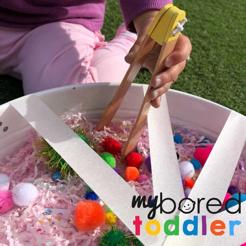 sensory pom pom rescue fine motor play image 2