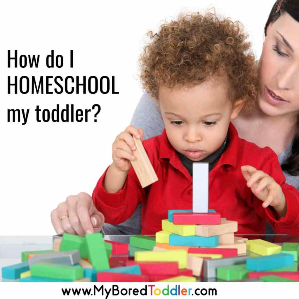 How do I Homeschool my toddler? Educational toddler activities to get you through a homeschool day!