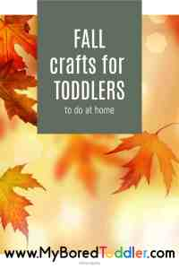 fall crafts for toddlers to do at home
