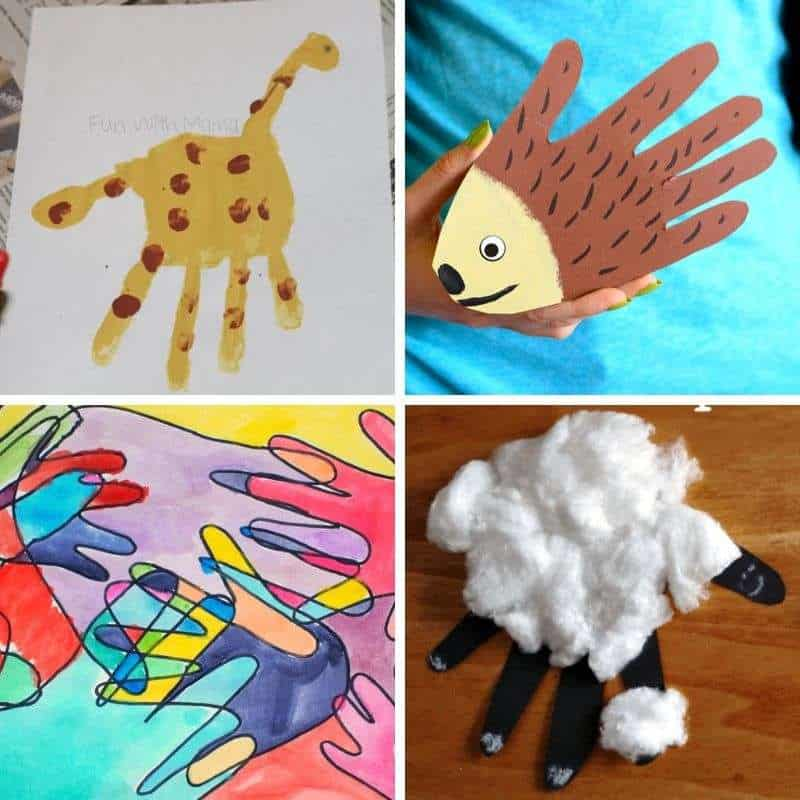 hanprint craft ideas for toddlers