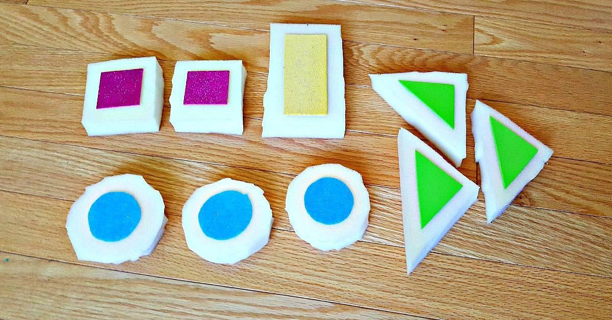 homemade foam blocks for toddlers
