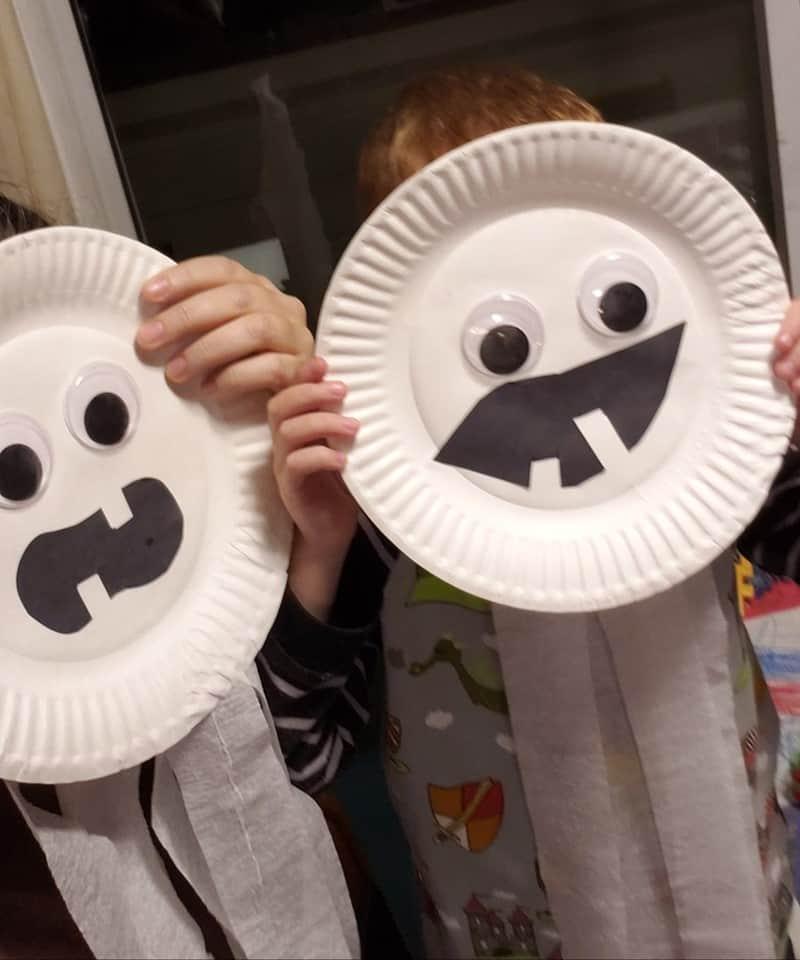 marika paper plate spooky faces