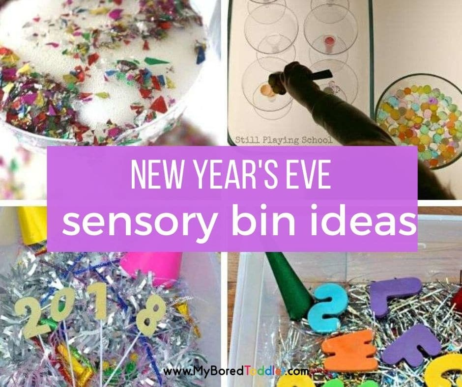 New Year's Eve Sensory Bins for Toddlers