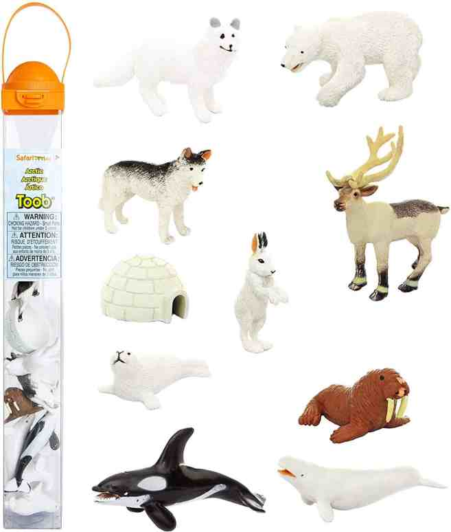 arctic animals for sensory bin play