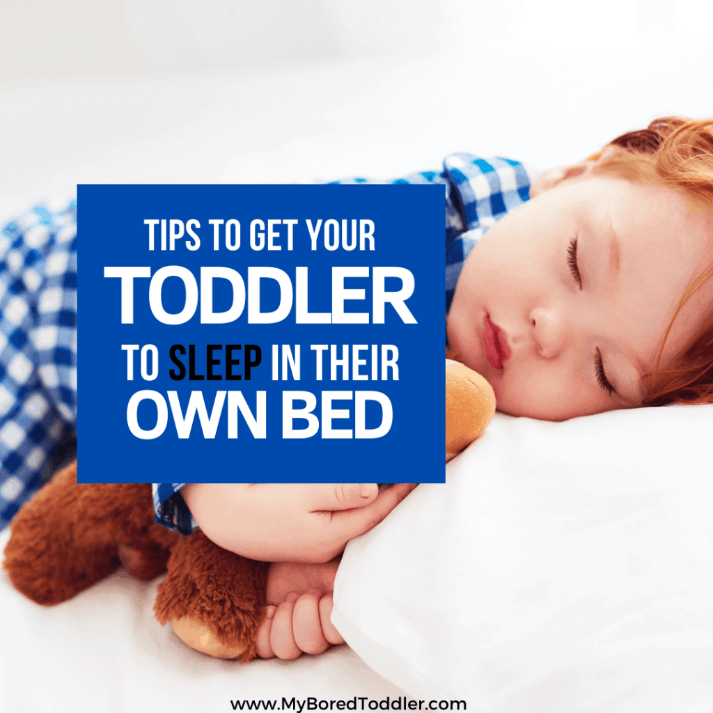 Tips to get your toddler to sleep in their own bed