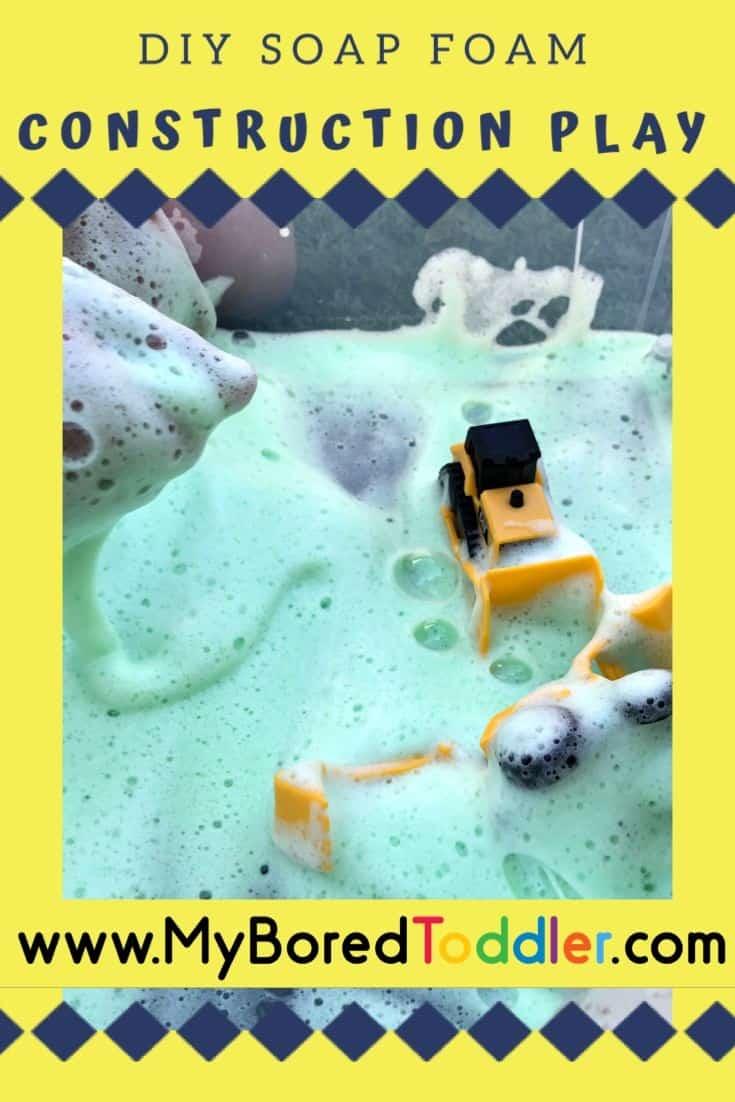 soap foam construction play pinterest