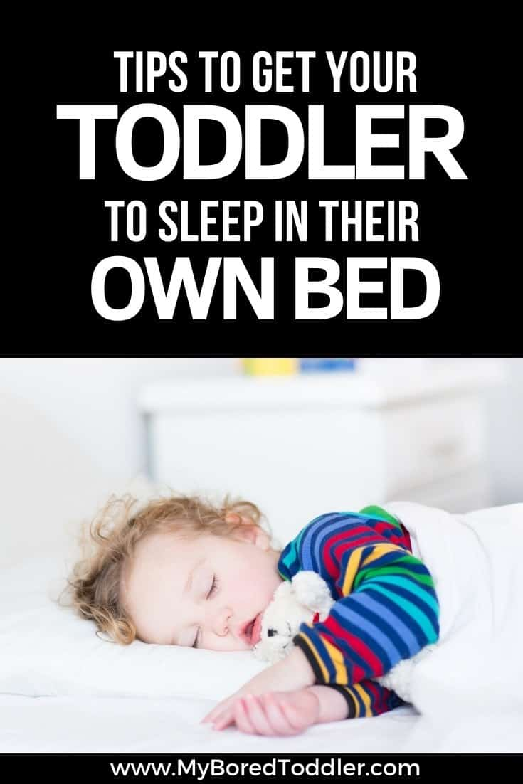 toddler sleep tips how to get your toddler to sleep in their own bed pinterest
